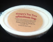 TEA TREE  w/Emollient Soap- Big 5 .5 oz  Bar Handmade by Noopys-Great for problem skin-Natural