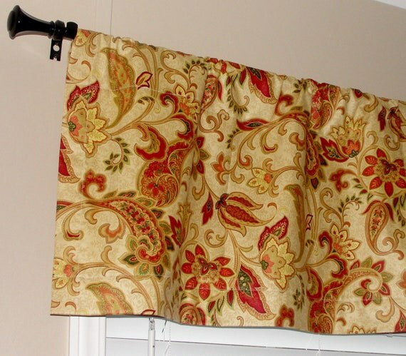 Waverly Designer Paisley Valance 50 Wide X 16 By Lettssewsomething