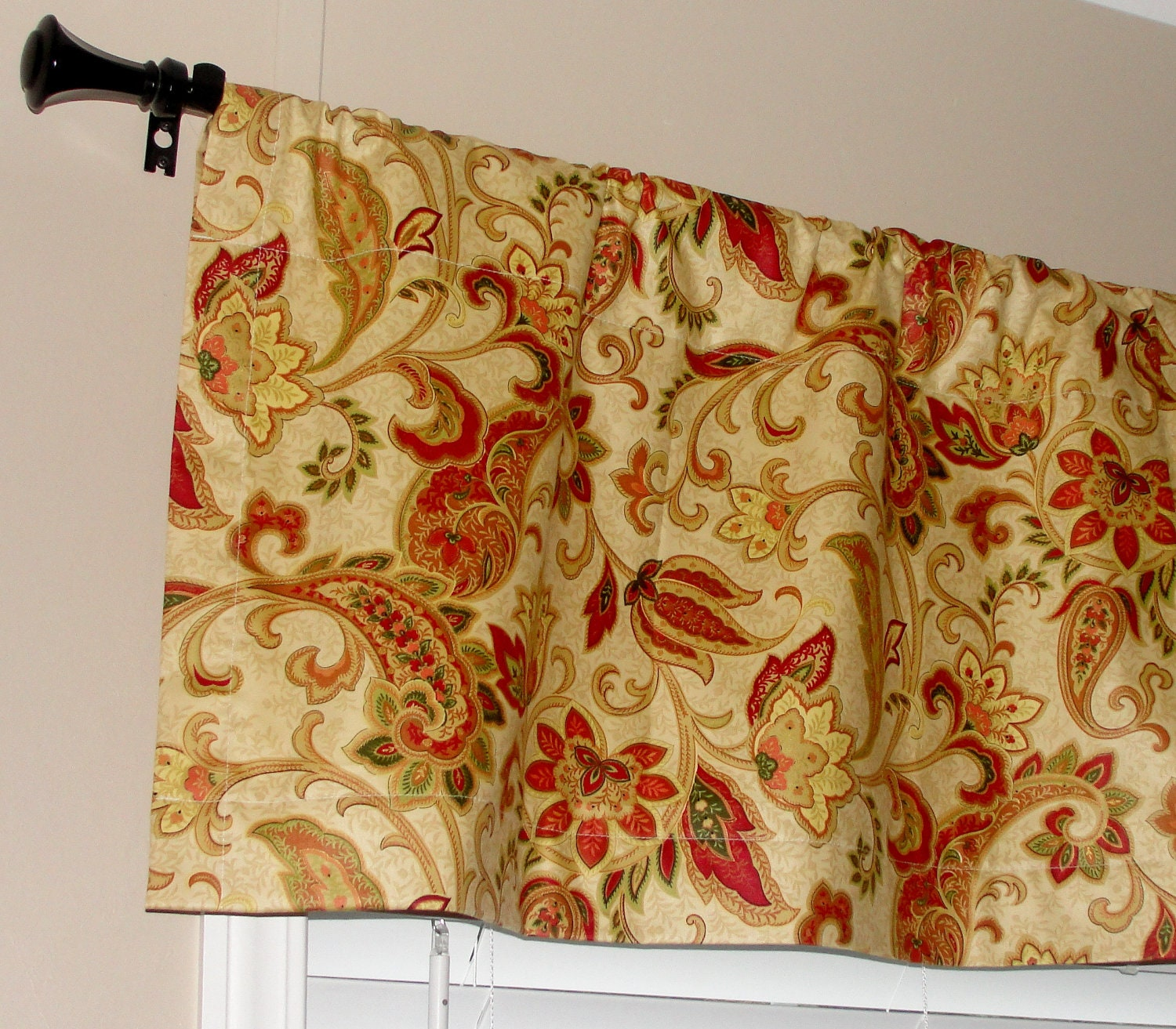 Waverly Designer Paisley Valance 50 Wide X 16 Long