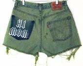 Hi Mom Frayed Denim Shorts -- Levi's 550's