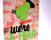 Green We're a Pear Greeting Card