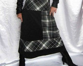 Custom Order Skirt Black and White Plaid Check Autumn Classic Style Long Woman Stylish Skirt