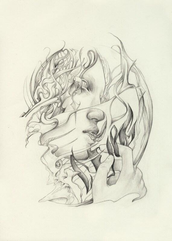 Losing Cure - original pencil artwork - editevening Reece Hobbins