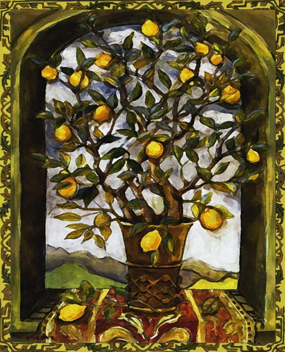 Lemon Tree Artwork Lemon Tree Art Tile Wall