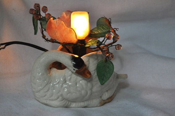 Nightlight Swan Japan Unusual Flowers Leaves Beads