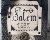 Cross Stitch Pattern: Salem Cupboard Hanger