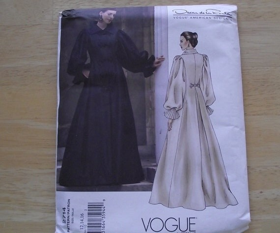 UNCUT VOGUE Pattern Coat Dress Designer Oscar de La Renta evening gown