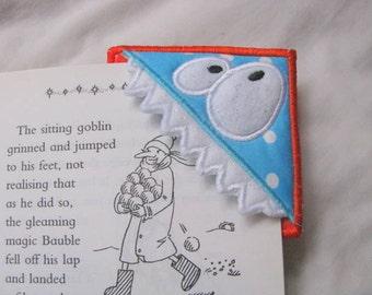 ITH Monster Corner Bookmark Machine Applique Embroidery Design 05 - 4x4