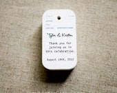 Wedding Favor Tags - Vintage Library Card Inspired Gift Tags - Thank you tags - Hang tags - Set of 40 (Item code: J234)
