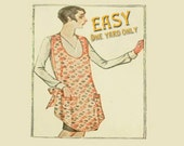 Flapper Era Apron PATTERN . . . Printed, Vintage, Retro, Full-sized, 1920s . . . ONLY 1 yard plus trim