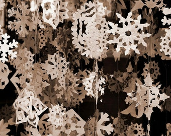 Set No. II Snowflake PATTERNS. . . Winter Wonderland Paper Snowflakes for Weddings, Special Events, Home Decor Ornament Decorations