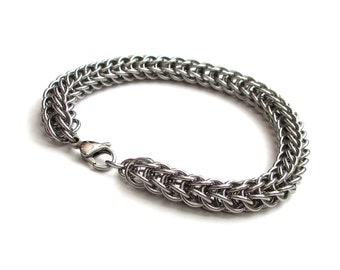 Men's chainmail bracelet, stainless steel Full Persian, stainless steel jewelry