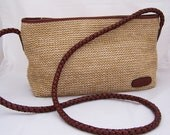 Gorgeous Tula  by Radley cream textile/straw bag with leather trim and strap, Shoulder handbag, UK Seller
