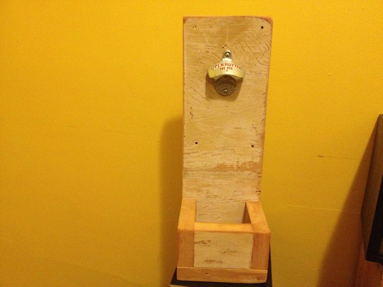 reclaimed wood wall mount bottle opener. Black Bedroom Furniture Sets. Home Design Ideas