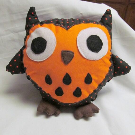 Pumpkin the Stuffed Owl