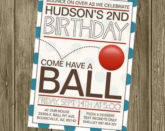 Ball Birthday Party Invitation
