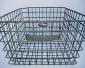 """Industrial Metal Vintage Gym Locker Basket with number 12"""" x 13"""" x 7 3/4"""""""