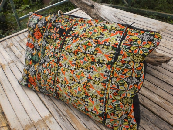 RESERVED FOR CAROL    Yao Hilltribe Cushion Cover Made From Yao Vintage Textile