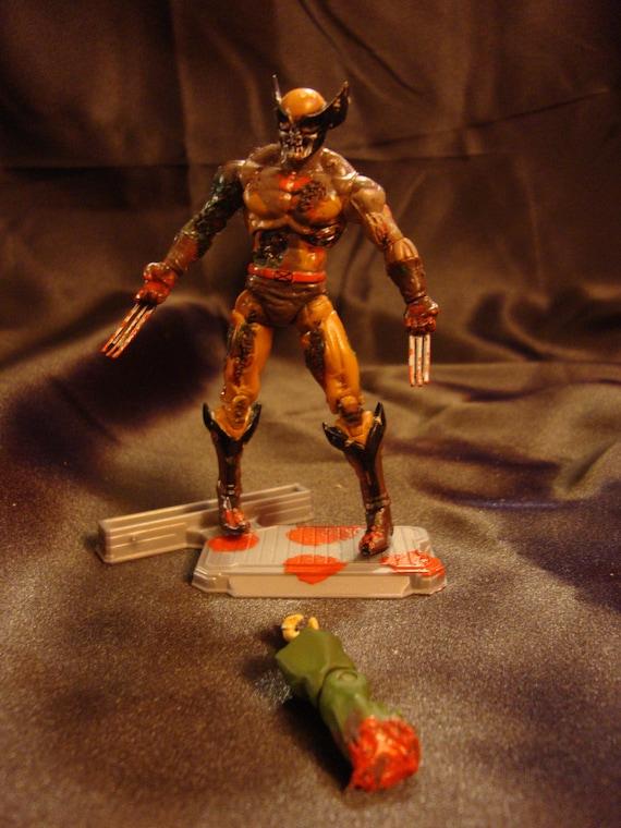marvel zombies custom zombie wolverine action figure. Black Bedroom Furniture Sets. Home Design Ideas
