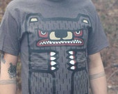 Men's/Unisex Bear Totem, Heather Brown or Heather Grey T-Shirt