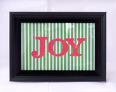 Joy, Framed Christmas Sign, Christmas Art, Holiday Sign, Table Top Sign, Christmas Decor, Wall Art, Framed Christmas Art, Ready to Ship