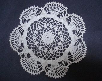 Sppecial VINTAGE LACE DOILY - Hand Crochet - Decorative Lace
