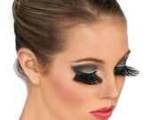 Peacock  Feather False Eye Lashes style 1 / New Years/ Burning Man/ TREASURY ITEM