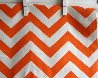 Mandarin / Natural Chevron Home Decor Weight Fabric from Premier Prints - ONE YARD