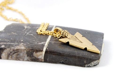 Arrowhead Necklace, Gold