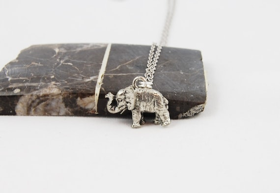 Elephant Necklace, Silver, 17mm