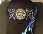 Water Polo with Water Splash Embellished Low Fitting Structured Cap