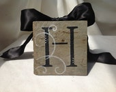 Personalized Slate Coasters Salvaged and Recycled New Orleans Roofing Slate