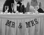 Mr & Mrs banner. wedding banner.