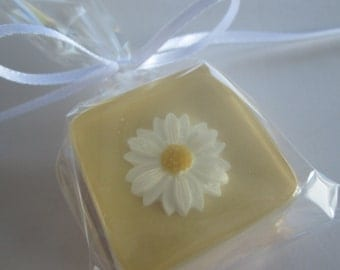 Yellow and White Daisy Soap Favors or in custom wedding colors