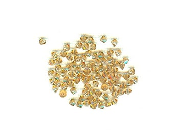60 Pc Swarovski Crystal Bicone Light Colorado Topaz 4mm