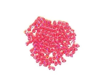 60 Pieces Swarovski Crystal Bicone Indian Pink 4mm