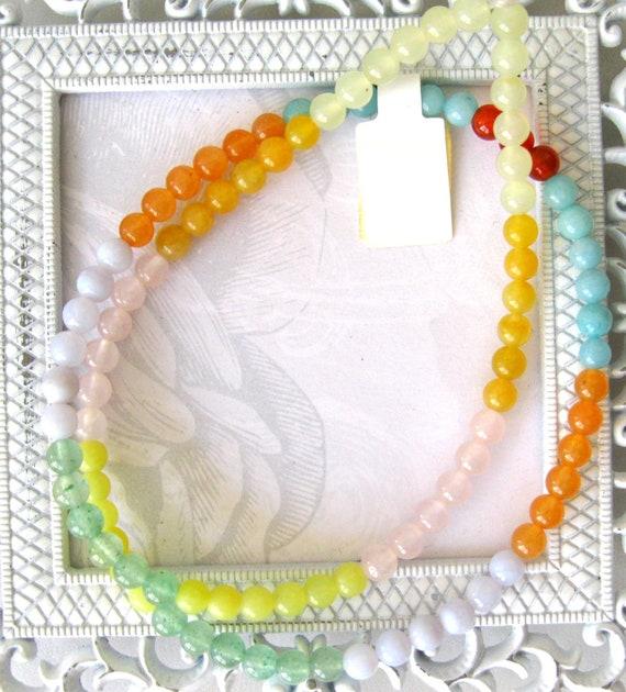 Semiprecious beads round gemstones-jewelry supplies-full strand  5mm round Semiprecious beads