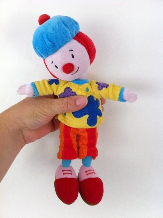 Vintage cute clown doll , baby toy /child toy .