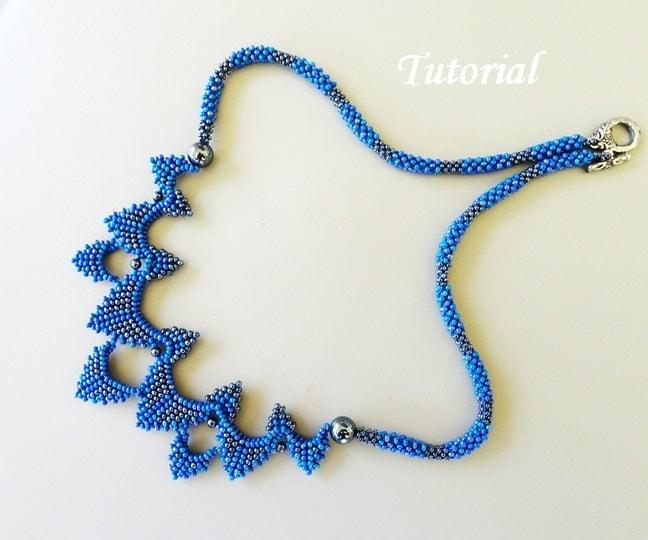 pdf for bearwoven necklace beading pattern beadbeawing