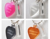 PERSONAL TEXT NECKLACE leaf, engraved, for adults
