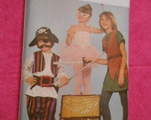 Butterick 4010,  costume , Peter Pan, pirate, ballerina, size s to L-7 to 14