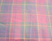 Beautiful Pink Plaid Multi color cotton blend fabric 3 YRDS
