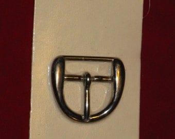 Vintage Silver Metal Belt Buckle La Mode  for Handmade Belt or Purse 1960's - 1970's New on Original Card