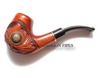 """New Style Wood pipe Tobacco Pipe/Pipes Smoking Pipes. Hand Carved wooden pipe """"LANCELOT"""", Best Price in FPS"""