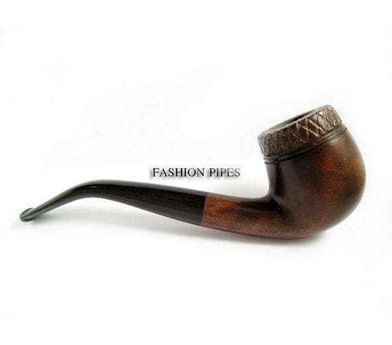 Rustic Tobacco Pipe Handcrafted Wooden Pipe Smoking Pipe/Pipes. Wood Pipe Designed For Pipe Smokers - One Copy Pipe