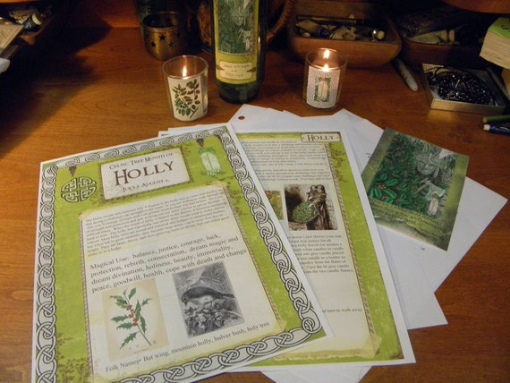 Celtic Tree Calendar Series: Holly Month July 8-August 4