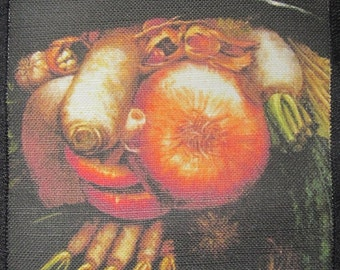 Printed Sew On Patch - THE GREENGROCER - Giuseppe Arcimboldo 1527-1593