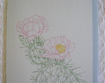 Flowering Cactus Blank Card