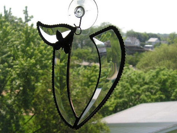 V|Stained Glass|Initial V|Letter V|Monogram V|Beveled Glass|Stained Glass Initial V|Butterfly|Handcrafted|Made in USA