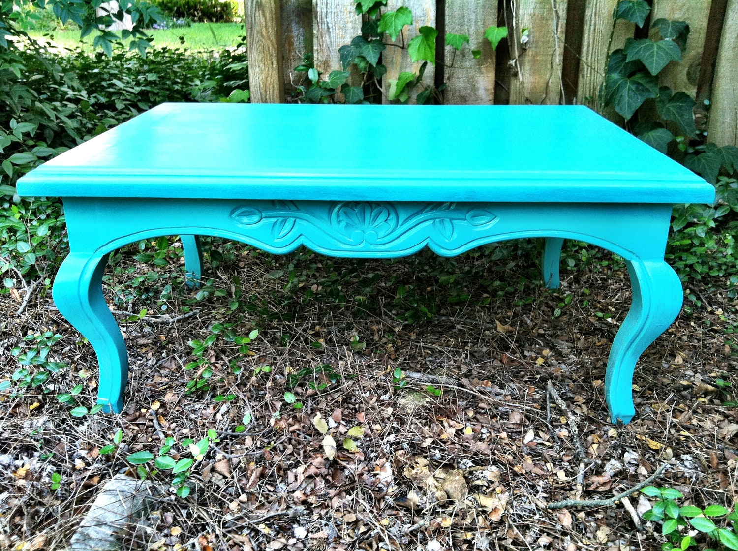 Vintage Turquoise Mexican Coffee Table